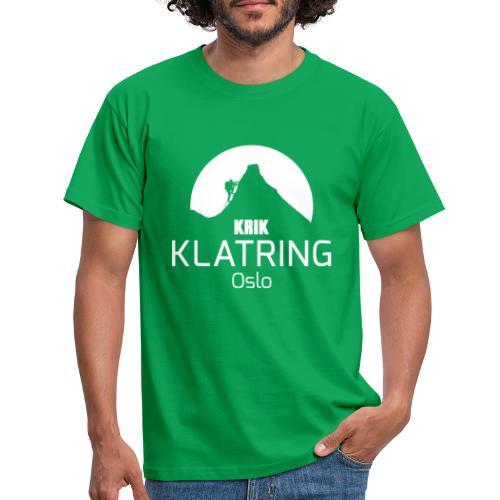 KRIK Klatring Oslo Logo foran - T-skjorte for menn