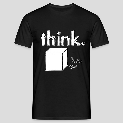 Think Outside The Box Illustration - Men's T-Shirt