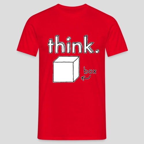 Think Outside The Box Illustration - Men's T-Shirt