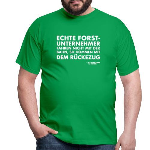 Forstunternehmer | Rückezug weiß - Männer T-Shirt