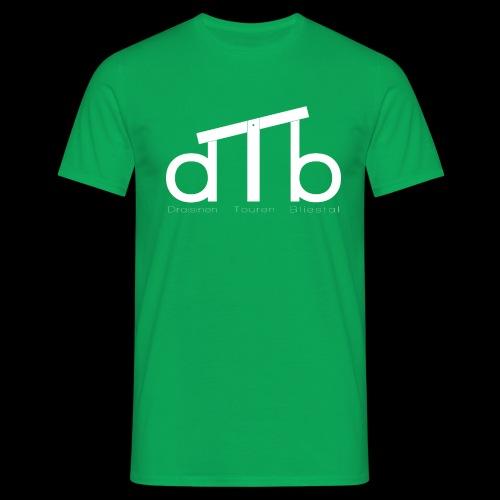 Logo_dTb_weiss_inv - Männer T-Shirt