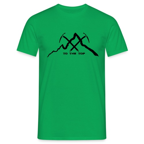 To The Top Black - Männer T-Shirt