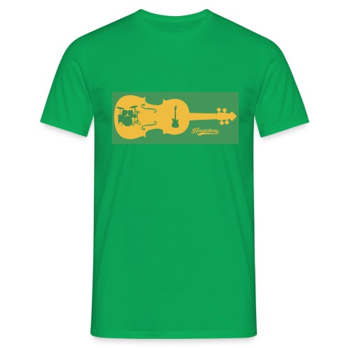 Tired of Playing Fiddle Yellow and Green - Men's T-Shirt