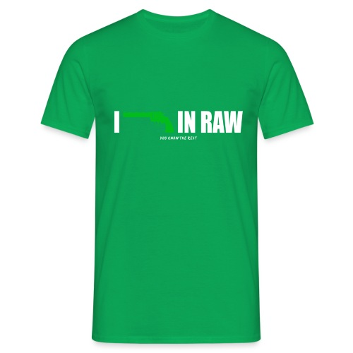 I shoot in RAW You know the Rest - Männer T-Shirt