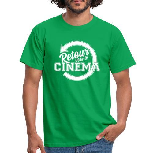 Logo blanc Retour vers le Cinéma - T-shirt Homme