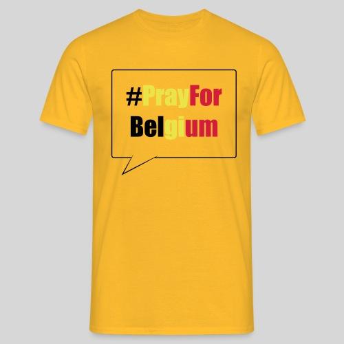#PrayForBelgium - T-shirt Homme