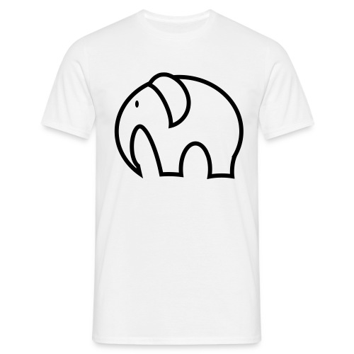 olifant pictogram - Mannen T-shirt
