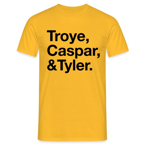 TROYE CASPAR AND TYLER - YOUTUBERS - Maglietta da uomo
