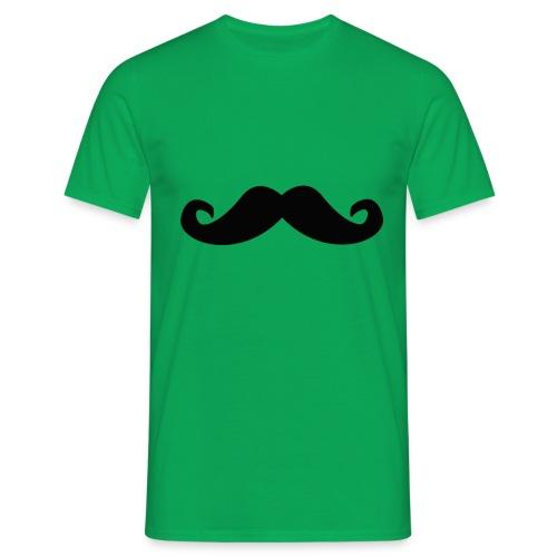 mustache - T-skjorte for menn