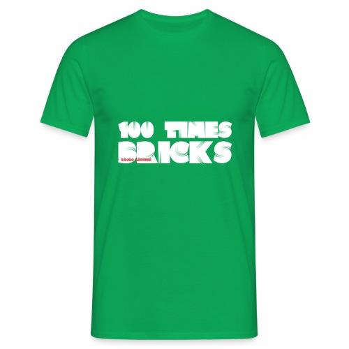 100 TIMES BRICKS retrò - Maglietta da uomo