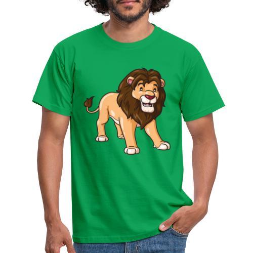 Löwe Comic süß - Männer T-Shirt