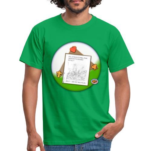 Petrus trifft Jesus - zu viele Fische ! - Männer T-Shirt