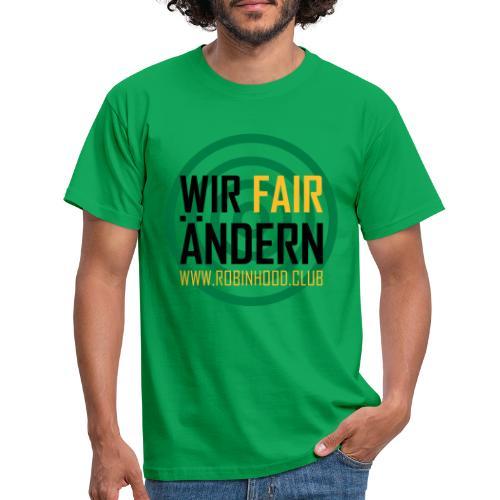Fairändern mit Zielscheibe - Männer T-Shirt