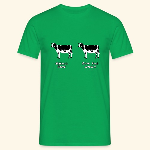 Small or far away cow? - Men's T-Shirt
