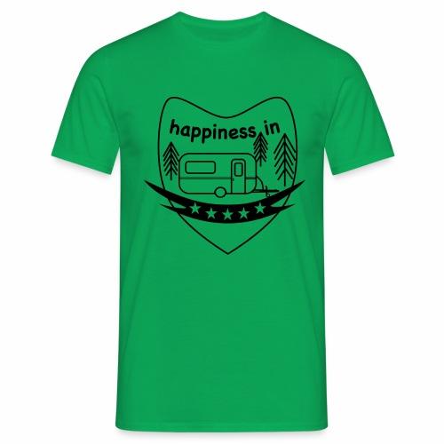 Happy Camper - Männer T-Shirt