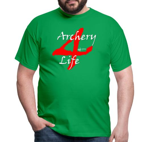 Archery4Life white - Männer T-Shirt