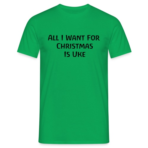 Christmas Uke Black - Men's T-Shirt