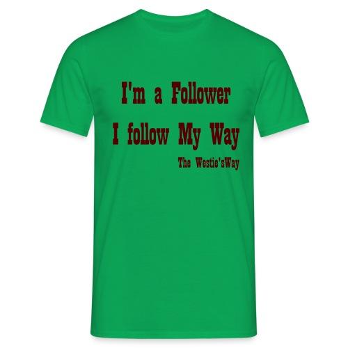 I follow My Way Brown - Koszulka męska