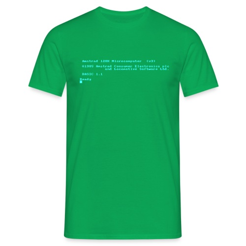 Amstrad CPC 6128 Green Screen BASIC retro computer - Men's T-Shirt