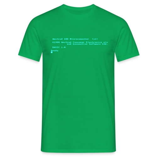 Amstrad CPC 464 Green Screen BASIC retro computer - Men's T-Shirt