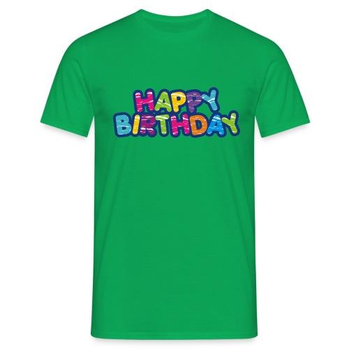 Happy Birthday Happy - Style - Männer T-Shirt