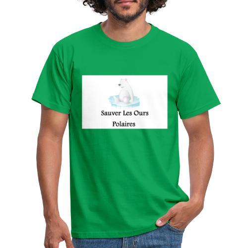 Sauver Les Ours Polaires - T-shirt Homme