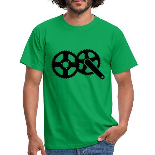Cool geek bicycle gear design - Mannen T-shirt