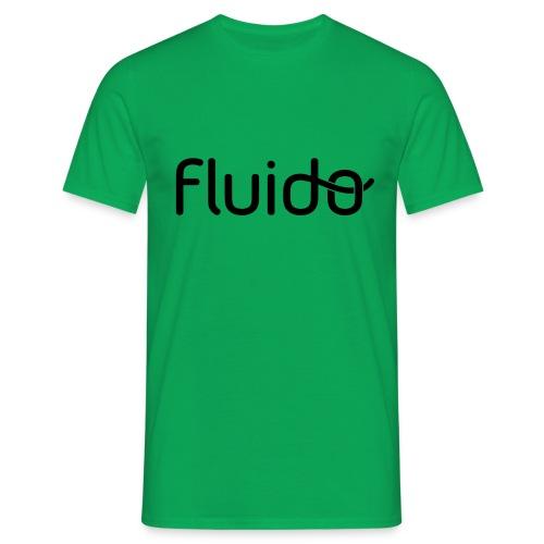 fluidologo_musta - Miesten t-paita