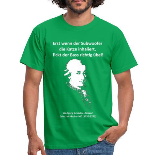 Mozart über Bass (einseitig) - Männer T-Shirt