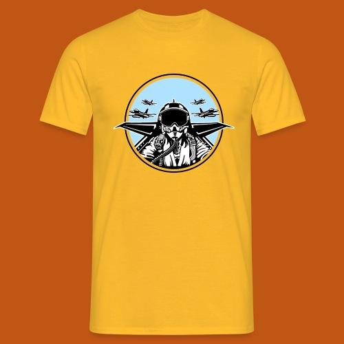 Jet Pilot / Kampfpilot 01_weiß Schwarz - Männer T-Shirt