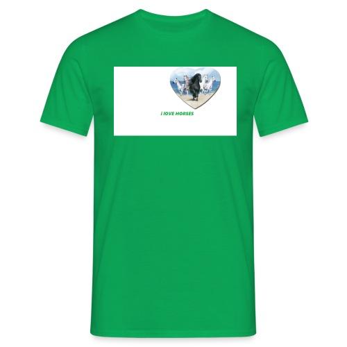 Ilove horses - T-shirt herr