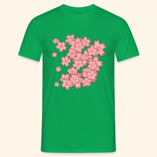 Rosa Blümchen Muster - Männer T-Shirt