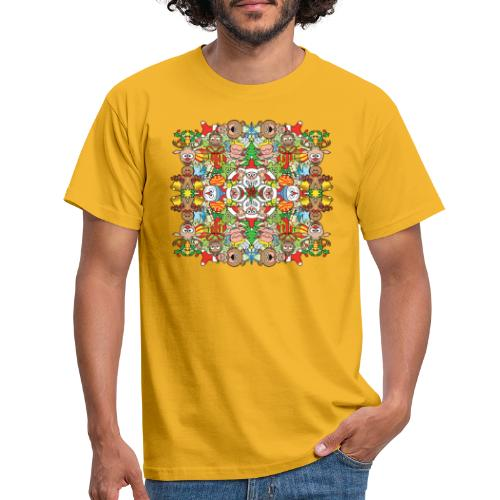 The Christmas crowd is having a great time - Men's T-Shirt