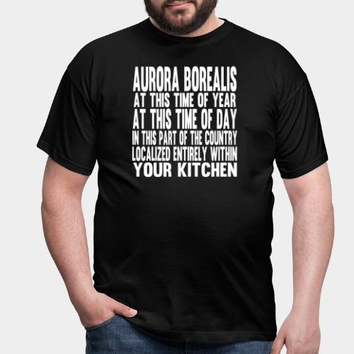 Aurora Borealis White - Men's T-Shirt