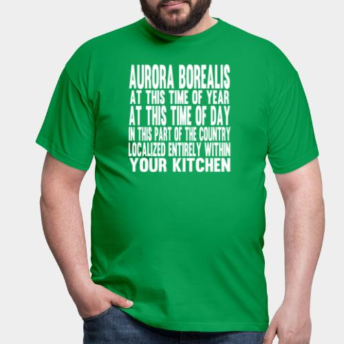 Aurora Borealis White - Men's T-Shirt