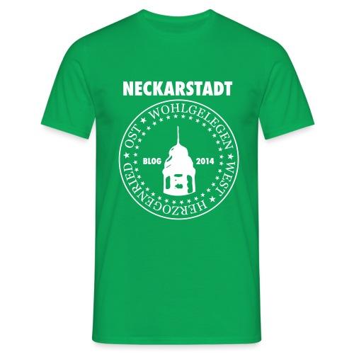 Neckarstadt – Blog seit 2014 (Logo hell) - Männer T-Shirt