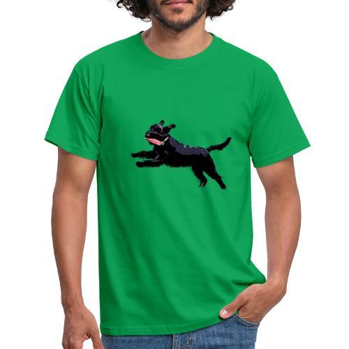 Schnauzer in Aktion! Hunde - Männer T-Shirt
