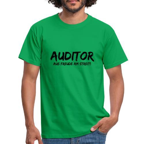 auditor aus freude am streit black - Männer T-Shirt