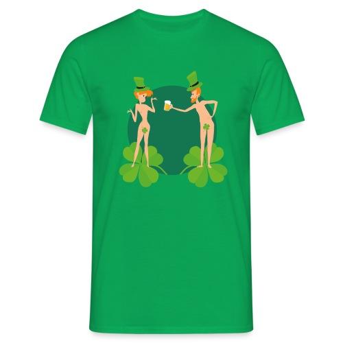 Adam et Eve fêtent la Saint Patrick - T-shirt Homme