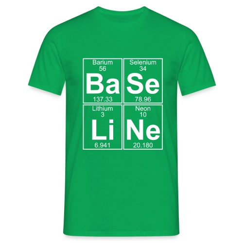 Ba-Se-Li-Ne (baseline) - Full - Men's T-Shirt