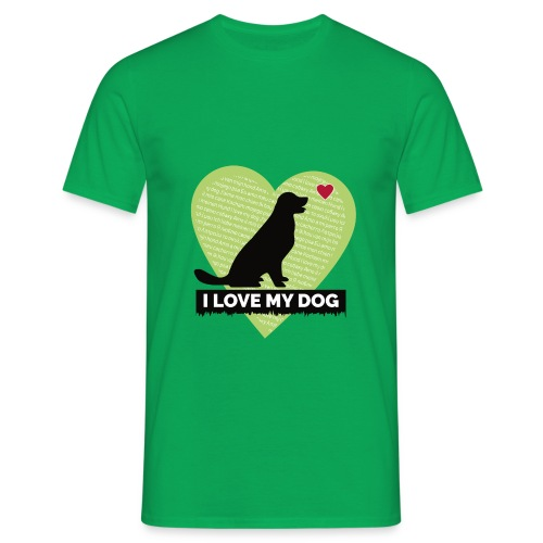 I LOVE MY DOG HEART - Men's T-Shirt