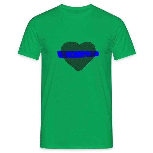 serduszko blu - Koszulka męska