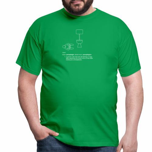 pooplegic smartphone white - Men's T-Shirt
