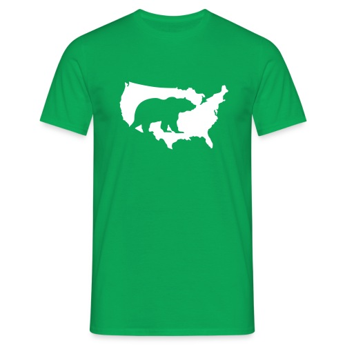 USA Amerika America Grizzly Baer Teddy Bär - Men's T-Shirt