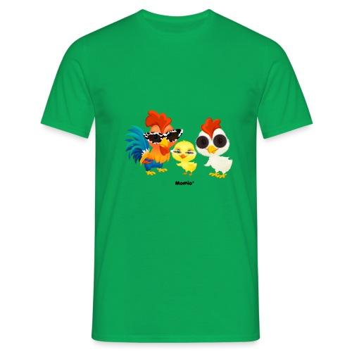 Kurczak - autorstwa Momio Designer Emeraldo. - Koszulka męska
