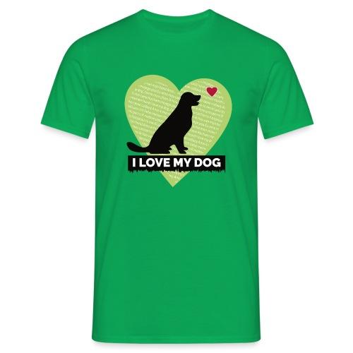 I LOVE MY DOG HEART - Men's T-Shirt