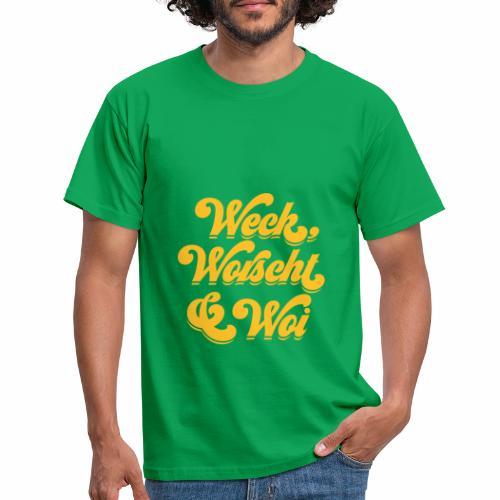 Weck, Worscht & Woi - Männer T-Shirt