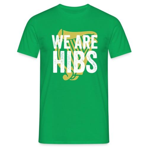 WEAREHIBS WhiteWithGoldHarp - Men's T-Shirt