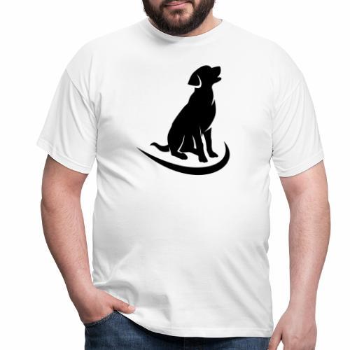 siluetta perro - Camiseta hombre
