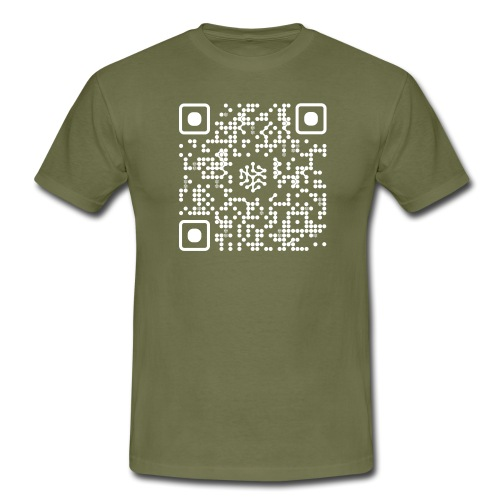 QR Safenetforum White - Men's T-Shirt